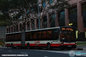 SMRT Mercedes-Benz O405G Hispano Habit (TIB1150B) - Service 67W