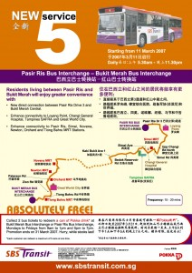SBS Transit Route Poster