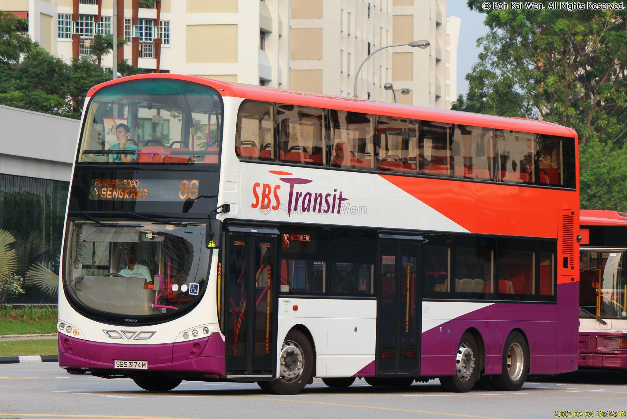 SBST Volvo B9TL Wright () - Service 86