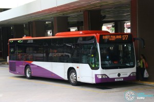 SG1021X on 177 Tower Transit Mercedes-Benz Citaro