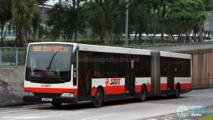 SMRT Mercedes-Benz O405G Volgren (TIB1188T) - Service 960