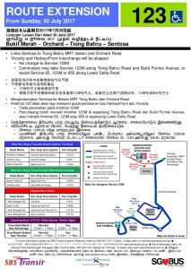 Service 123: Route extension to Sentosa
