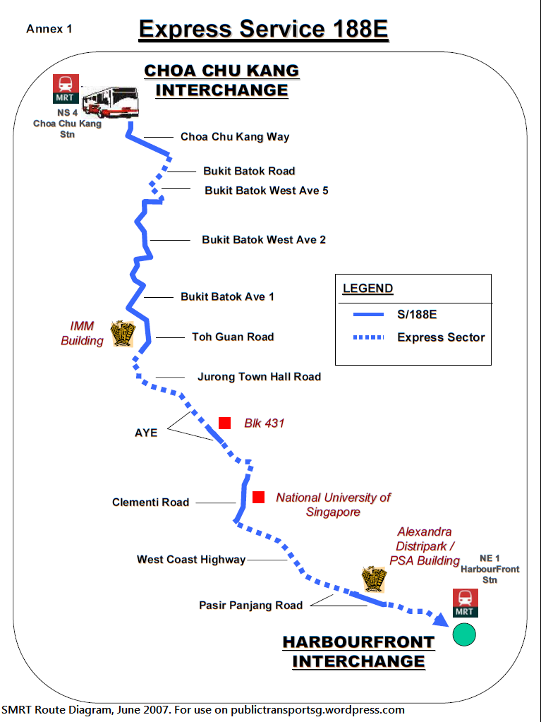 SMRT Route Diagram