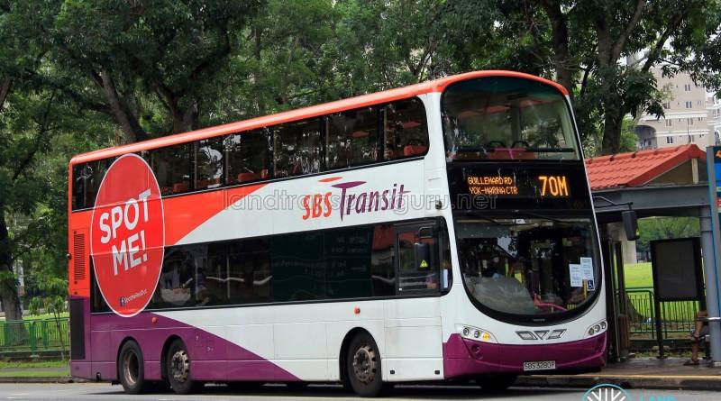 SBST Volvo B9TL Wright (SBS3280P) - Service 70M