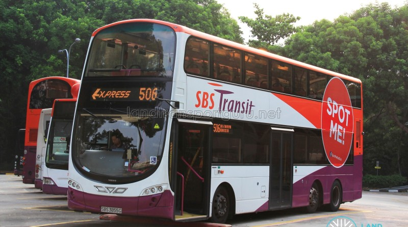 SBST Volvo B9TL Wright (SBS3855G) - Service 506