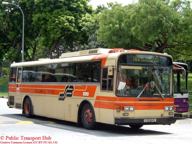 A Nissan Diesel U31RCN () on Service 608. Photo credits to Public Transport Hub.
