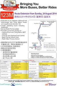 LTA/SBST Press Release - Service 123M Extension to Harbourfront
