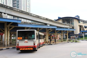 Old Bukit Panjang Bus Interchange - Bus boarding