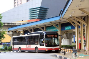 Old Bukit Panjang Bus Interchange - Alighting berth