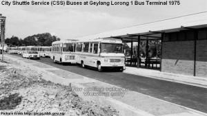 CSS buses at Geylang Lorong 1 Bus Terminal