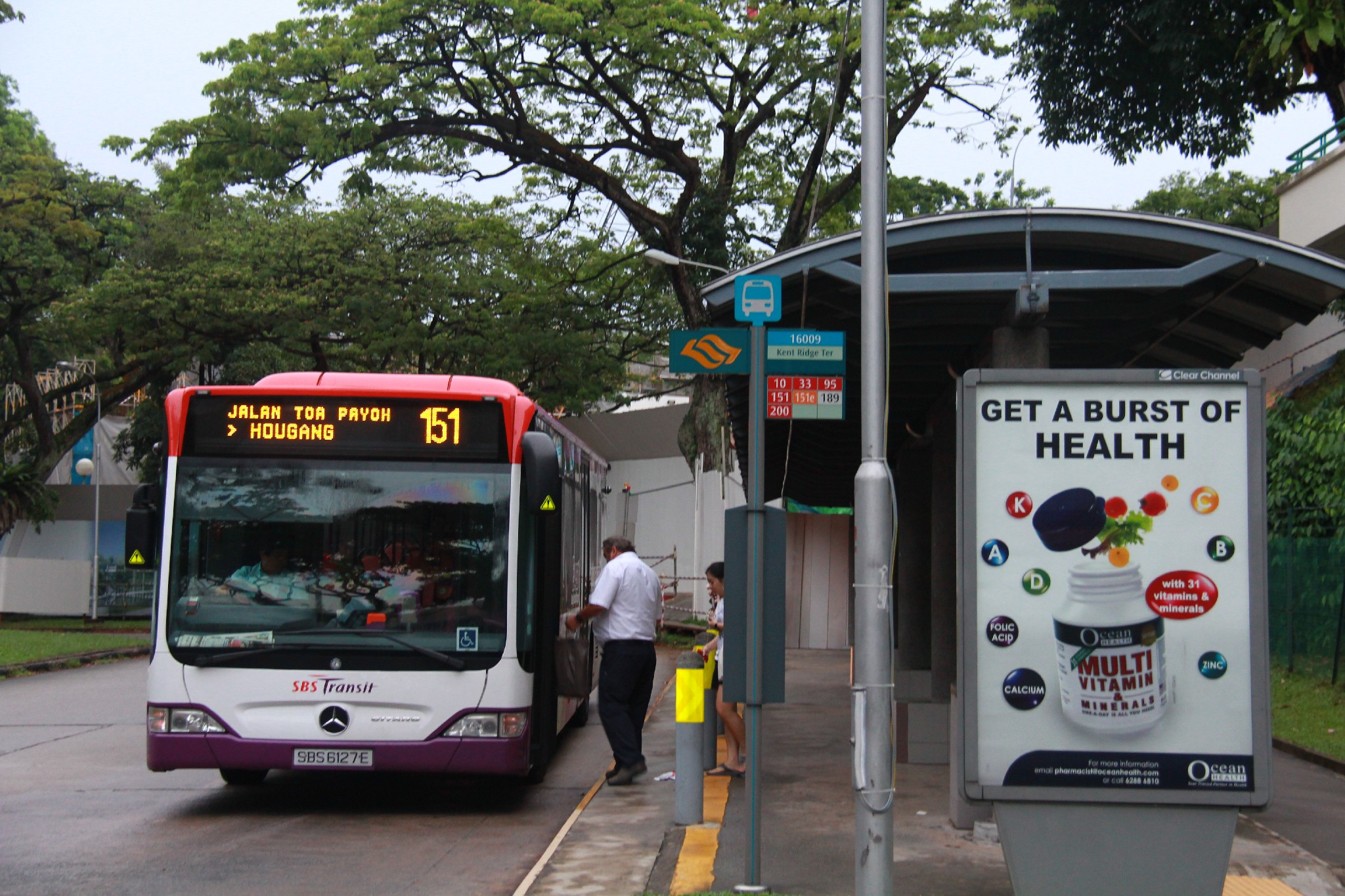 Service 151 picks up passengers at Kent Ridge Terminal
