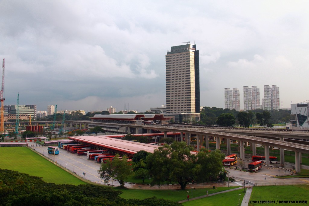 Aerial View of Jurong East Interchange from Blk 204, before it was demolished.