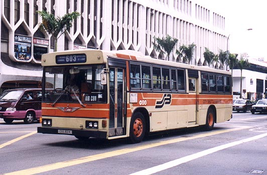 An air-conditioned Hino HT228K (CSS) on CSS 603