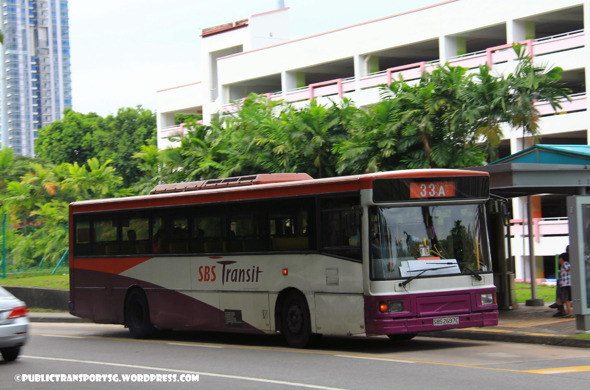 SBS Transit Volvo B10M MkIV DM3500 (SBS2697C) - Service 33A