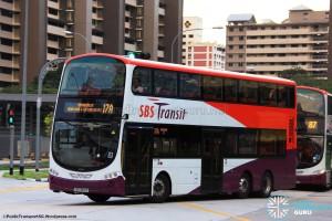 SBST Volvo B9TL (SBS3814A) - Service 17A