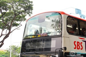 SBS7500D - Upper Deck Windscreen opaque sticker