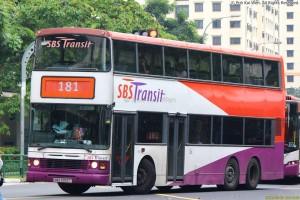 SBST Volvo Olympian 3-axle (SBS9303T) - Service 181