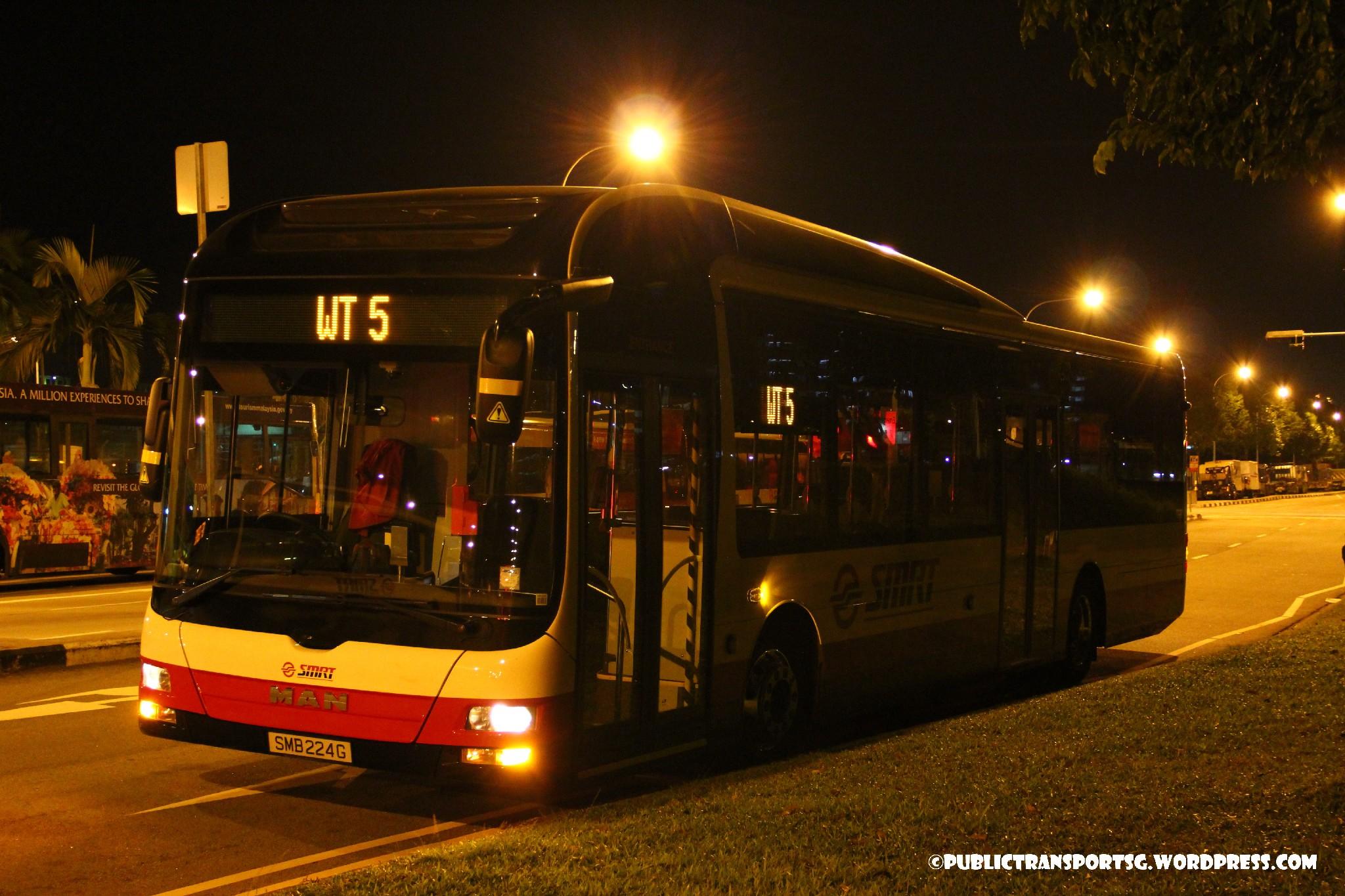 SMRT MAN NL323F (SMB224G) - Worker's Transport WT5