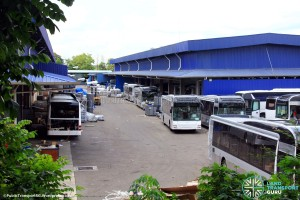 SMRT MAN NL323Fs undergoing assembly at Gemilang Coachworks, Malaysia