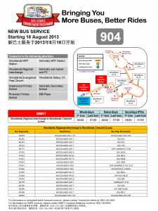Service 904: LTA/SMRT Joint Release Poster