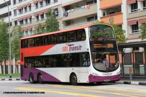 SBST Volvo B9TL Wright (SBS3007M) - Service 241A