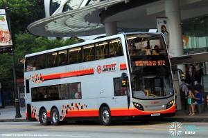 SMRT Alexander Dennis Enviro500 (SMB3502J) – First revenue service trip on Service 972.