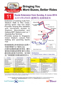 Service 11 Route Extension Poster