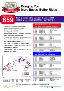 City Direct 659 Route Poster