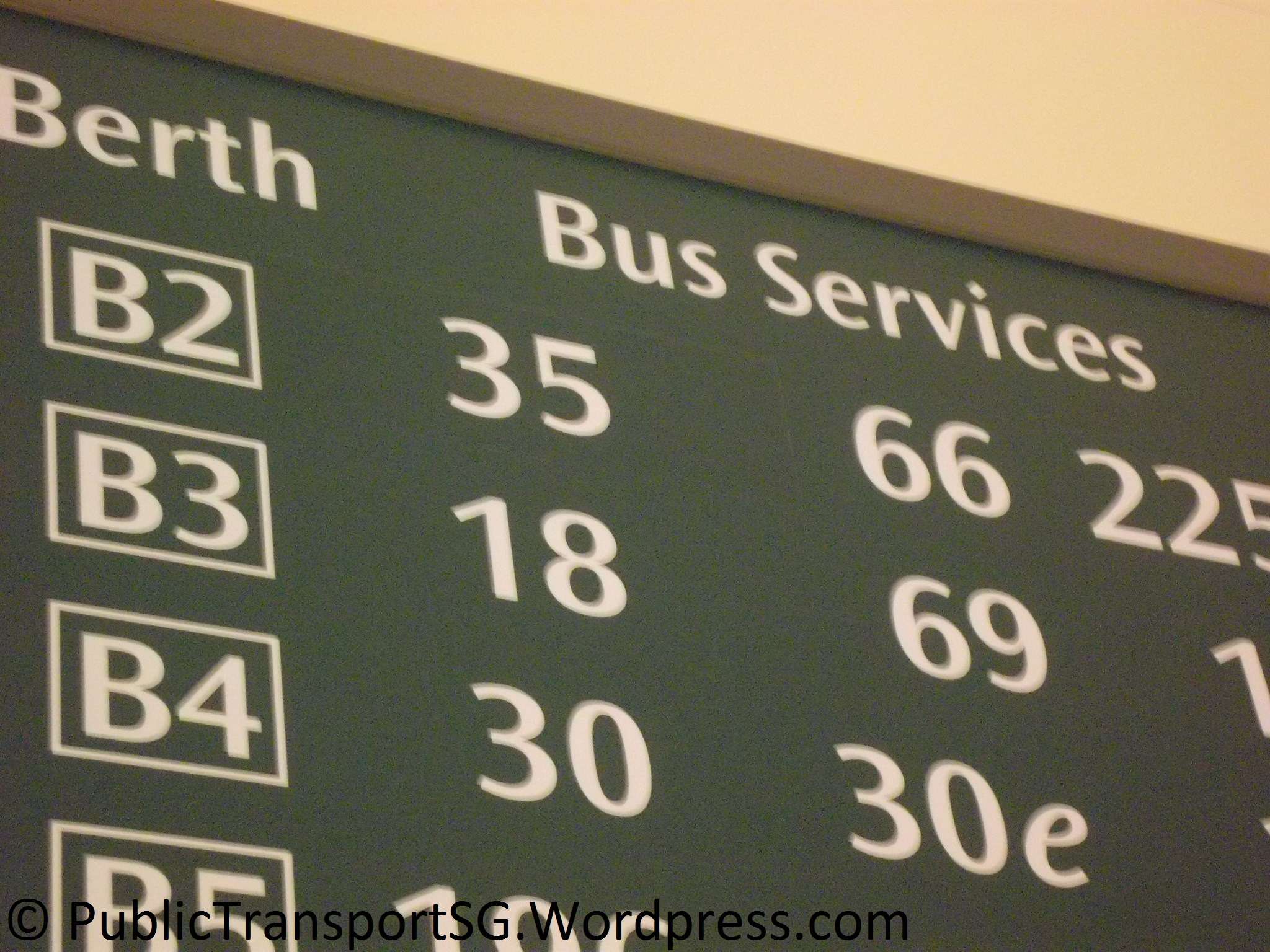Future new/supplementary BSEP service provision at Bedok Int