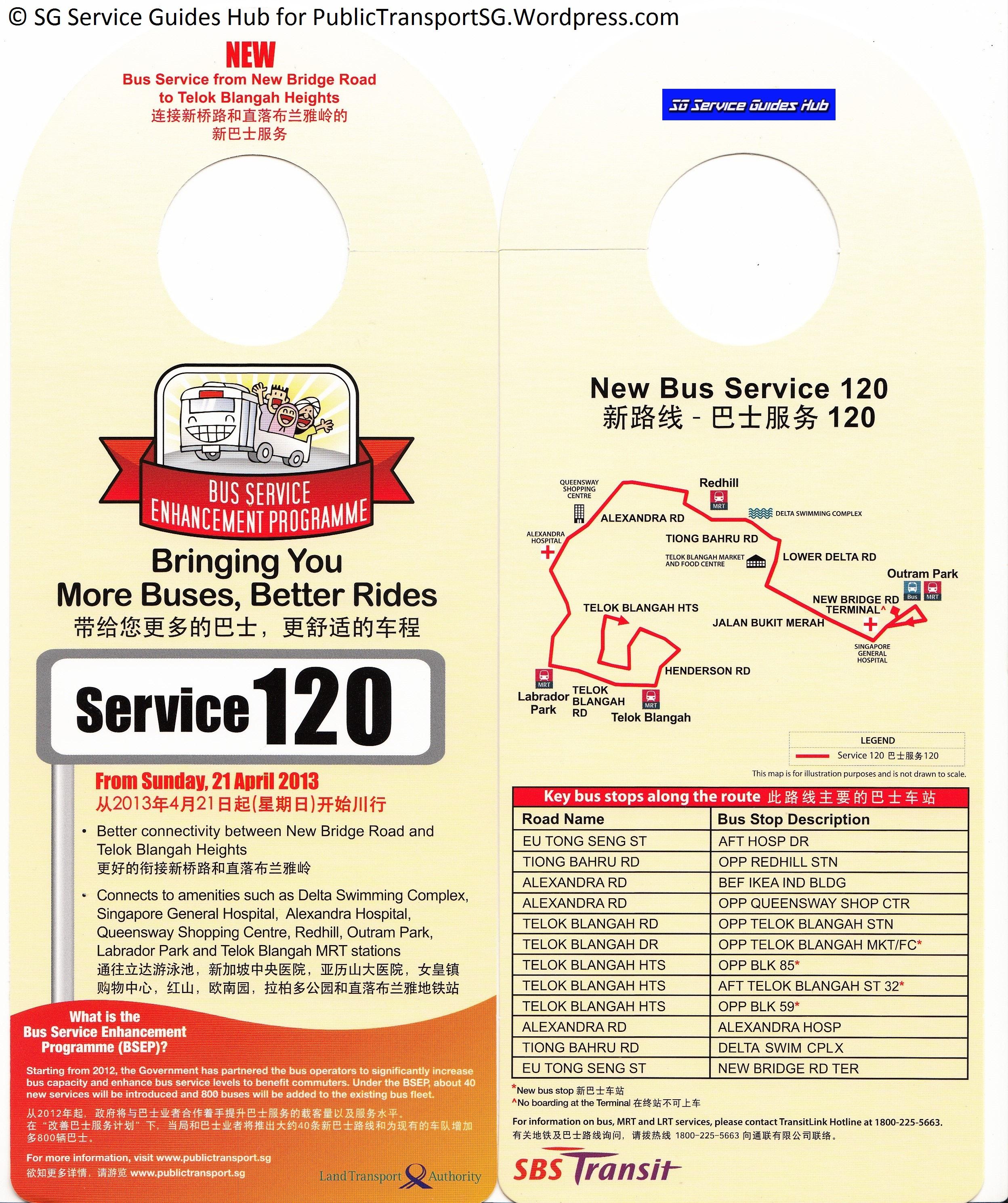 BSEP Promotional Hanger for Service 120
