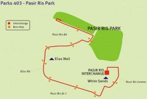 Parks 403 route diagram