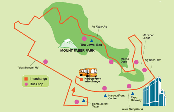 Service 409 route diagram