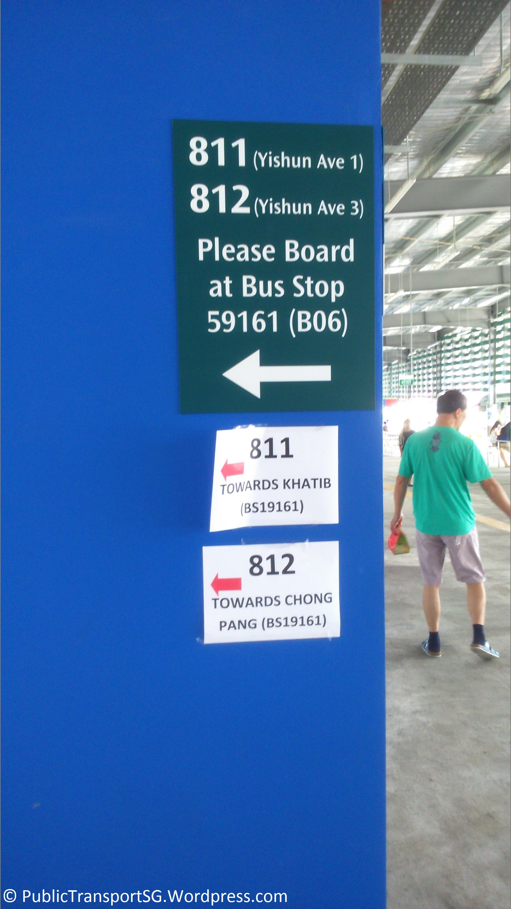 Follow the signs for to bus stop 59161.
