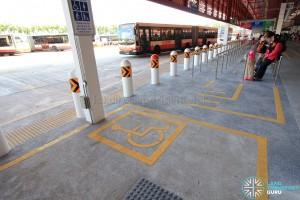 Wheelchair waiting area