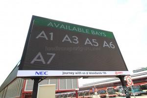 Electronic board showing empty alighting berths