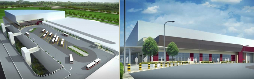 Artist's Impression of Tuas Bus Terminal from Jurong International