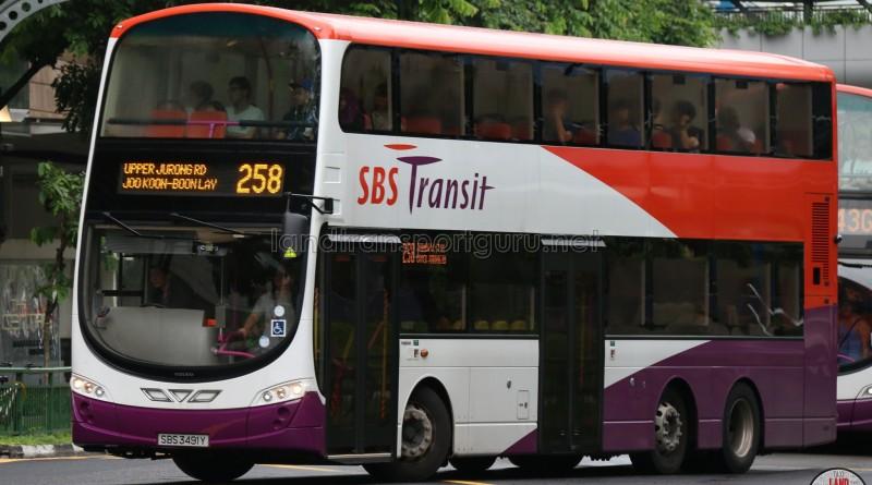 SBST Volvo B9TL (SBS3491Y) - Service 258