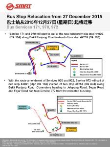 Service 171, 970 & 972 BS Relocation Poster (DTL2 Enhancement)