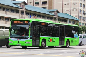 "Mercedes-Benz Citaro purchased under BSEP. Painted in Lush Green livery for the ""Color Your Buses"" campaign."