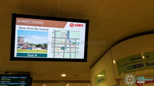 Bugis MRT Station - Information Screen