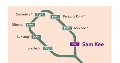Opening of Sam Kee LRT Station