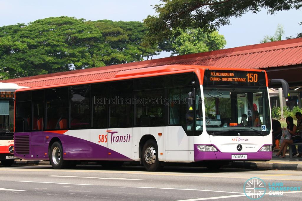 Sbs transit bus service 150 land transport guru for Downtown mercedes benz service