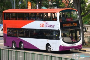 Volvo B9TL in SBS Transit Livery (SG5185E on Service 134)