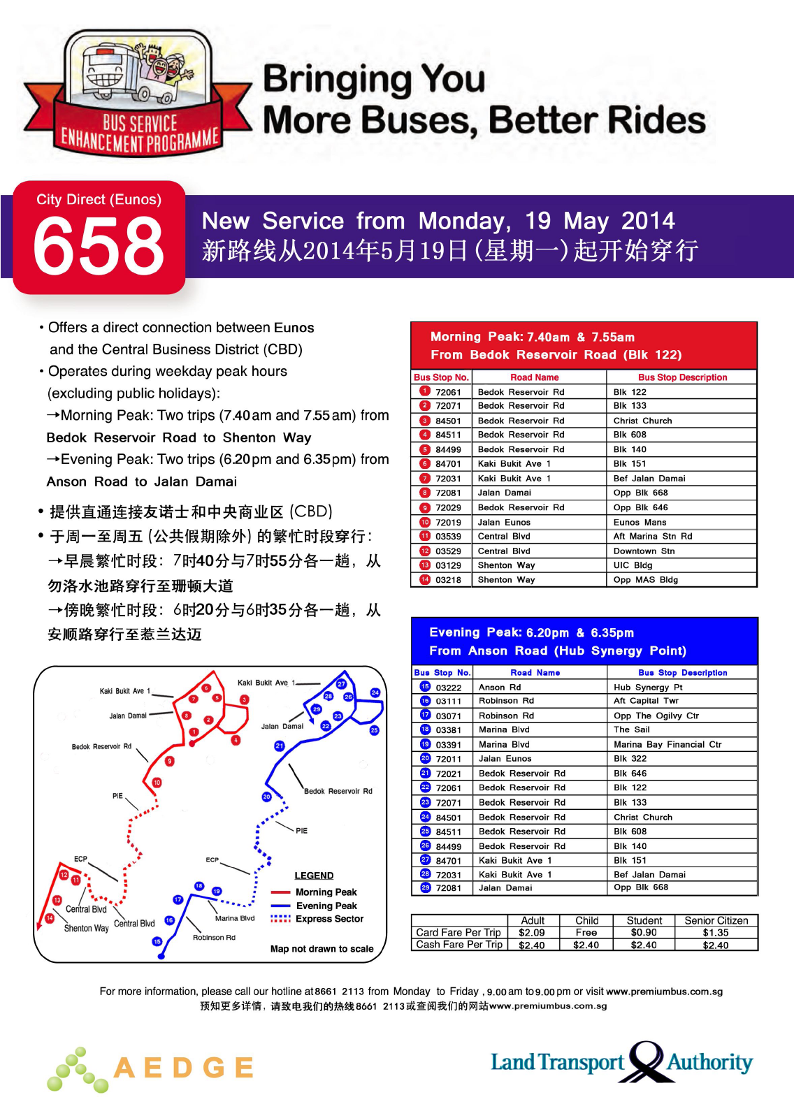 City Direct 658 Route Poster