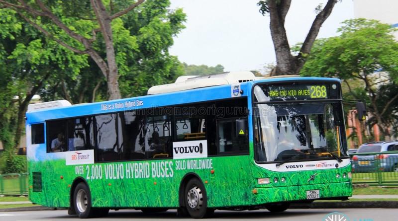 SBS Transit Volvo B5RLE Hybrid (SBS8002T) - Service 268