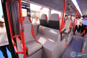 Alexander Dennis Enviro500 Concept Bus Mock-up - Solo seat beside rear door