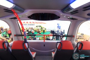 Alexander Dennis Enviro500 Concept Bus Mock-up - Upper deck front, without television display
