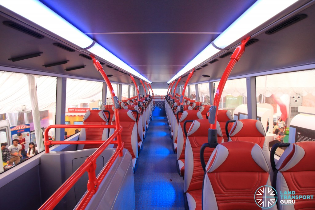 Alexander Dennis Enviro500 Concept Bus Mock-up - Upper deck seating (Front to Rear)