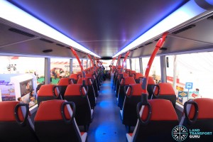 Alexander Dennis Enviro500 Concept Bus Mock-up - Upper deck seating (Rear to Front)
