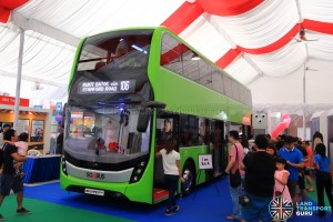 Alexander Dennis Enviro500 Concept Bus Mock-up - Front view